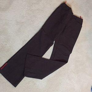 Dark Brown Prada stretch jean-style pants